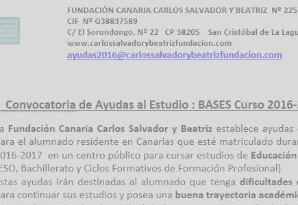 Ayudas Canarias 2016-2017 Nueva Convocatoria