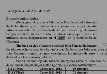 Carta IRPF Socios 2019